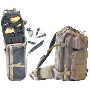 G Outdoors G.P.S. Loaded Bugout MOLLE Backpack Nylon Tan GPS-T1611LTB