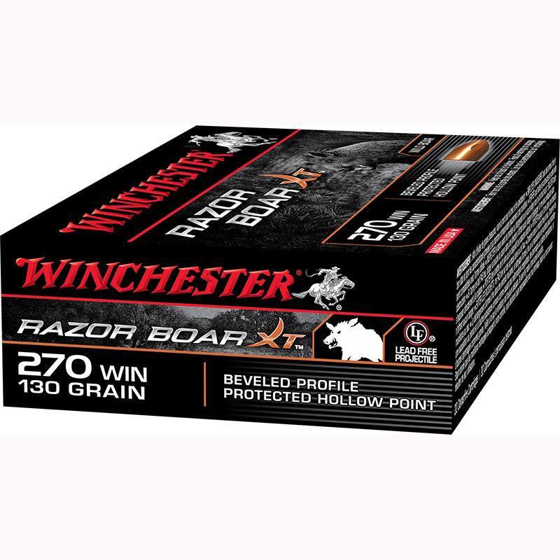 Winchester Razor Boar .270 Winchester Ammunition 200 Rounds, HP, 130 Grain