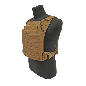 """Grey Ghost Gear Minimalist Plate Carrier 10""""x12"""" Plate Compatible MOLLE/PALS Webbing Coyote Brown"""