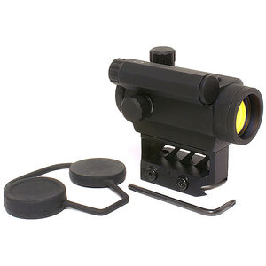Black Spider Optics M0129 Micro Red Dot Sight 3 MOA Red Dot Lower 1/3 Co-Witness Mount Model AAA Battery Matte Black Finish M0129