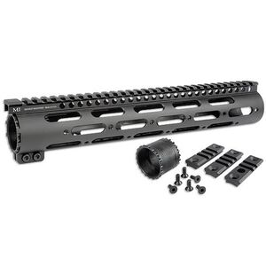 "Midwest Industries DPMS-LR308 SS-Series One Piece Free Float Handguard 12"" DPMS Low Profile Aluminum Black MI-308SS12-DL"