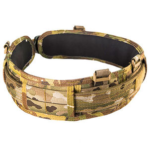 High Speed Gear Slim-Grip Padded Belt Slotted Small MultiCam