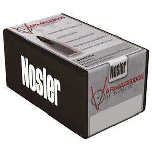 "Nosler Varmageddon Lead-Alloy Core Copper-Alloy Jacket Bullet .17 Caliber .204"" Diameter 20 Grain Hollow Point Metallic Black Tip Flat Base Projectile 100 Per Box 17210"