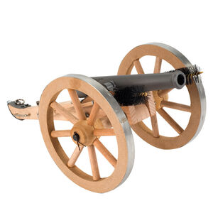 """Traditions Mini Napoleon III Black Powder Cannon Kit .50 Cal 7.25"""" Barrel Wooden Carriage Metal Rimmed Wheels Stainless Steel"""