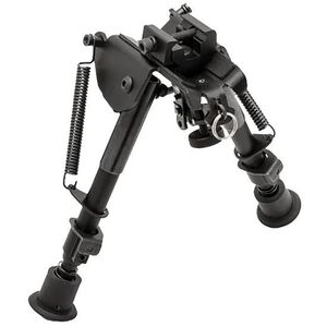 "TRUGLO Tac-Pod Adjustable Pivot Head Bipod 9"" to 13"" with Adapter Aluminum Black TG8902L"