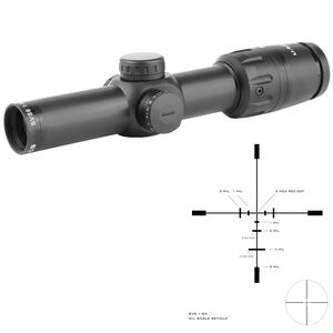 US Optics SVS 1-6x24 Riflescope Illuminated Red Dot SVS Mil Scale Reticle 34mm Tube 2/10 MIL Adjustments Second Focal Plane Matte Black