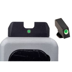 AmeriGlo I-Dot 2 Dot Night Sights Front and Rear For GLOCK 20, 21, 29, 30, 31, 32, 36 Green with White Outline