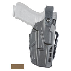 Safariland Model 7287 7TS SLS Belt Slide Concealment Holster Fits GLOCK 17/22/31 Right Hand SafariSeven STX Plain FDE