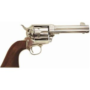 "Cimarron Frontier Revolver .38 Special/.357 Mag 4.75"" Barrel 6 Rounds Wood Grips Stainless Finish PP4503"
