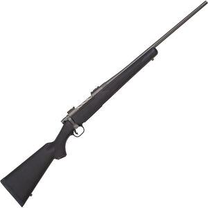 "Mossberg Patriot Synthetic Cerakote .338 Win Mag Bolt Action Rifle 22"" Fluted Barrel 3 Rounds Black Synthetic Stock Cerakote Stainless Finish"