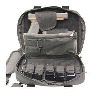 LeapersUTG Double Pistol Case Nylon Black PVC-PC05B