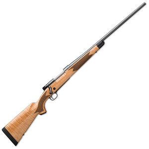 "Winchester Model 70 Super Grade Maple .308 Win Bolt Action Rifle 22"" Barrel 5 Rounds Adjustable Trigger Maple Stock Polished Blued"