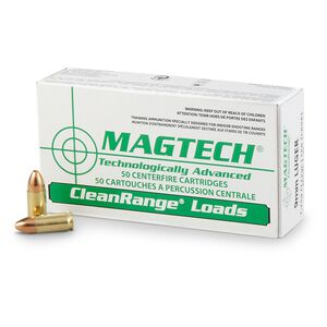 Magtech 9mm Luger Ammunition 50 Rounds TMJ 115 Grains CR9A
