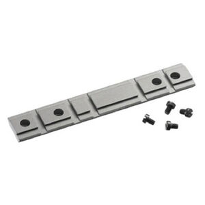 Ruger Combination 10/22 Scope Base Adapter Weaver snd Tip-Off, Silver Powder Coated Aluminum