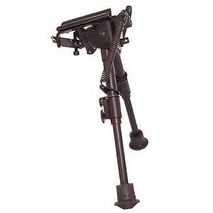 "Harris Ultra-light Bench Rest Bipod Swivel/Sling Swivel Stud Mount 6"" to 9"" Telescoping/Folding Legs Aluminum Matte Black S-BR"