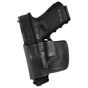 Don Hume J.I.T. GLOCK 19/22/23/26/27/31/32/33/36 Slide Holster Left Hand Black Leather J952000L
