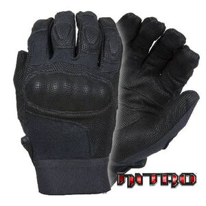 Damascus Protective Gear Nitro Hard Knuckle Gloves Leather Kevlar Large Black