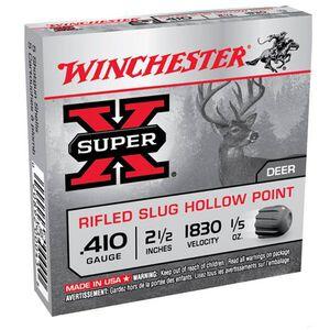 "Winchester Super X .410 2.5"" Rifled Slug 1/5 oz Five Round Box"