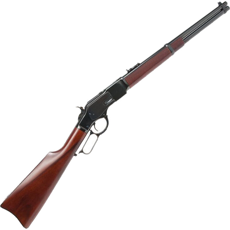 """Cimarron Firearms 1873 US Marshall IT Carbine .44 Special Leaver Action Rifle 18"""" Round Barrel 9 Rounds Walnut Stock Blued Finish"""