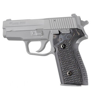 Hogue SIG P225-A1 Piranha Grip G10 G-Mascus Black/Grey 27127