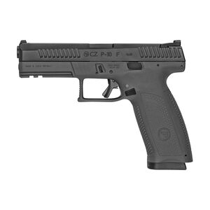 "CZ P-10 F Full Size 9mm Luger Semi Auto Pistol 4.5"" Barrel 19 Rounds 3 Dot Sights Fiber Reinforced Polymer Frame Matte Black Finish"
