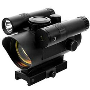 Vism Red Dot Sight with Green Laser and LED Flashlight 42mm Lens 3 MOA Dot QD Lever Aluminum Black VDFLGQ142