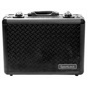 Sportlock Alumalock Double Handgun Case Small Aluminum Interlocking Foam Crate Foam Black 00405