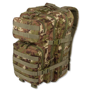MIL-TEC Large Assault Pack Vegetato Camouflage Heavy Duty 600 Denier Polyester Construction 14002242
