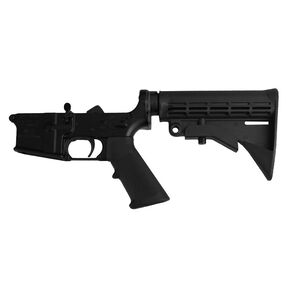 Anderson Manufacturing AR-15 Complete Lower Receiver Assembly .223/5.56 Mil-Spec Open Trigger Aluminum Black