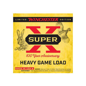 """Winchester Super X 100 Year Anniversary 12 Gauge Shotshell 25 Rounds 2 3/4"""" #6 Shot 1 1/4 Ounce Limited Edition"""