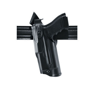 Safariland Model 6360 ALS/SLS Mid-Ride Duty Belt Holster Left Hand Fits GLOCK 20/21 with Light Hardshell STX Plain Black