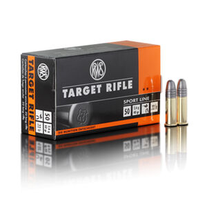 RWS Target Rifle .22 LR Ammunition 40 Grain LRN 1082 fps