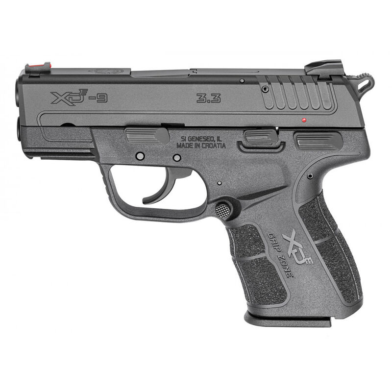 "Springfield XD-E 9mm Luger Semi Auto Pistol 3.3"" Barrel 9 Rounds Polymer Frame Black"