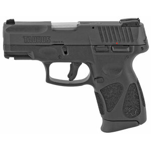 "Taurus G2c 9mm Luger Semi Auto Pistol 3.2"" Barrel 12 Rounds 3 Dot Sights Black Slide and Polymer Frame"
