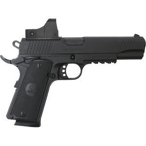 "EAA Girsan MC1911S .45 ACP 1911 Semi Auto Pistol 5"" Barrel 8 Rounds Full Sized Government Profile Red Dot Optic Steel Frame with Accessory Rail Matte Black Finish"