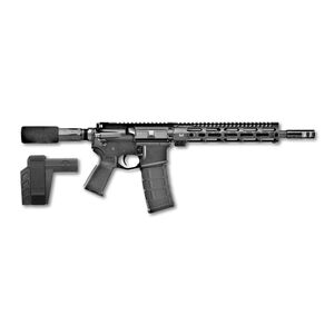"FNH USA FN-15 AR-15 .300 AAC Blackout Semi Auto Pistol 12"" Barrel 30 Rounds 10"" Free Float M-LOK Rail SBX-K Pistol Stabilizing Brace Matte Black Finish"