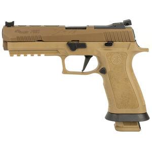 "SIG Sauer P320 XFive 9mm Luger Semi Auto Pistol 5.5"" Barrel 21 Rounds Dawson Precision Sights Modular X-Grip Polymer Frame Coyote Tan Finish"