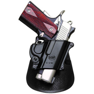 Fobus Compact Holster 1911/Browning Hi Power/Kahr K40,K9 Right Hand Roto-Paddle Attachment Polymer Black