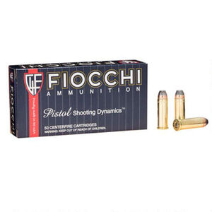 FIOCCHI .44 Remington Magnum Ammunition 50 Rounds JSP 240 Grains