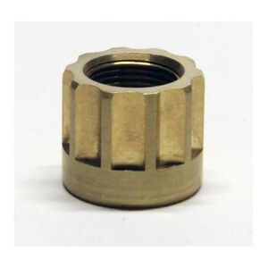 LongShot Ribbed Barrel Thread Protector 1/2-28 for Chiappa Little Badger Polished Brass