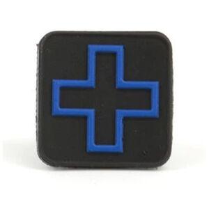 "Eleven 10 Cross Patch 1"" x 1"" PVC Black/Blue"