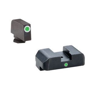 Ameriglo Sight Set for GLOCK Green Tritium Front Dot with White Outline and Green Rear Single-Dot