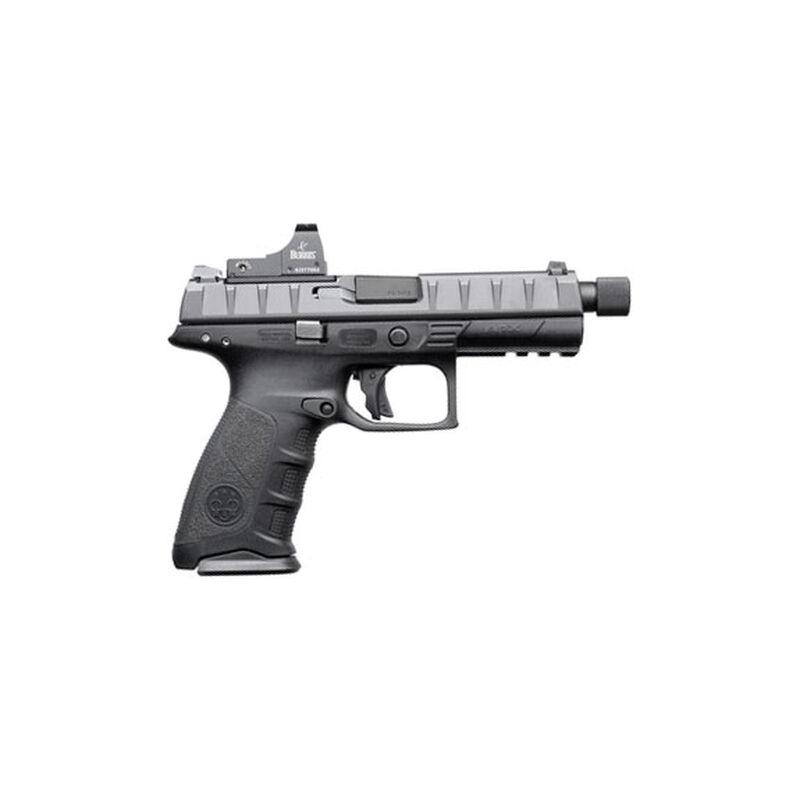 "Beretta APX Combat 9mm Luger Semi Auto Pistol 4.9"" Threaded Barrel 17 Rounds Integral Red Dot Optic Mount Polymer Frame Black"