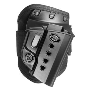 Fobus Ankle Holster CZ 97B/S&W Shield/Taurus Slim Right Hand Draw Polymer Shell/Cordura Pad with Velcro Strap Matte Black Finish