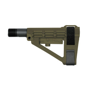 SB Tactical SBA4 Pistol Stabilizing Brace Complete Mil-Spec Kit Adjustable OD Green