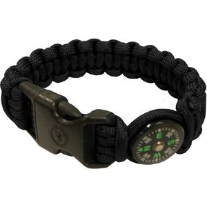 """Ultimate Survival Technologies Survival Bracelet 8"""" with Compass Black and Glow 20-295-345-E5"""