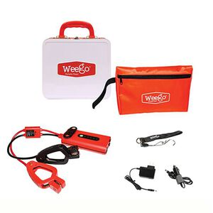 Weego Jump Starter 44 400 Peak Amps Start Up To 7 liter Gas 3.5 Liter Diesel 500 Lumen Flashlight Smarty Clamps Water Resistant