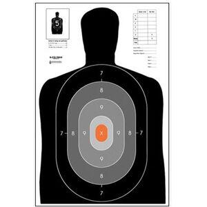 "Action Target B-27E Pros Target 23"" x 35"" Paper Black/Gray/Orange 100 Pack"