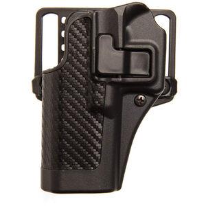 BLACKHAWK! SERPA CQC SIG Sauer P220, P226, P228, P229 Belt/Paddle Concealment Holster Left Hand Polymer Carbon Fiber Black 410006BK-L