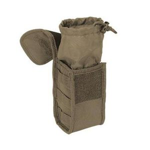"""Voodoo Tactical MOLLE Gas Mask/Utility Pouch 10"""" x 6"""" x 4"""" Quick Release Latch Nylon Coyote 012007000"""